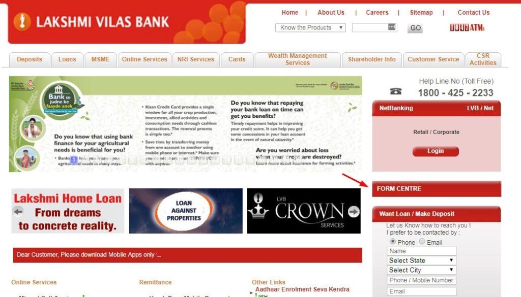 LVB Net Banking Services