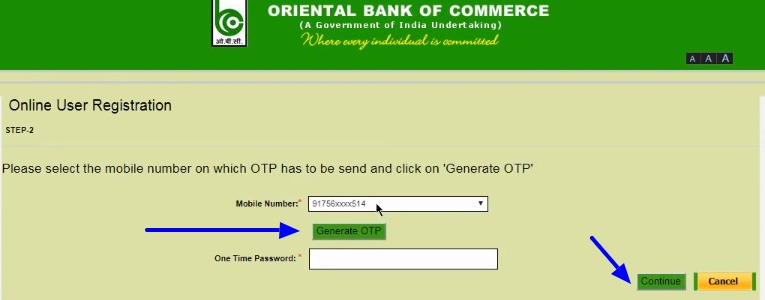 OBC Net Banking Online – How To Register & Activate Account? – Oriental Bank of Commerce 4