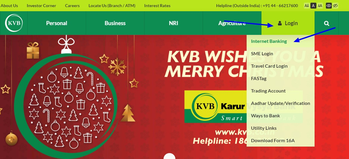 KVB Net Banking Online – How To Register & Activate Account? – Karur Vysya Bank 1