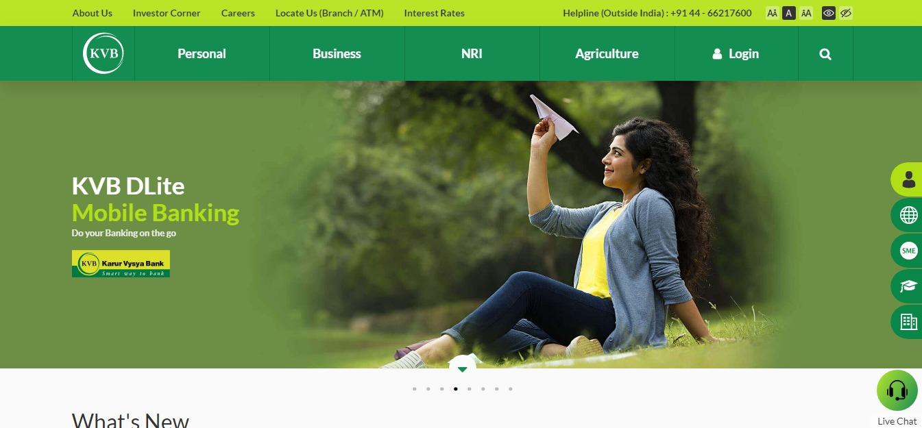 Karur Vysya Bank Personal Business NRI Banking Loans Accounts Deposits