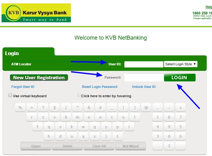 KVB Net Banking Online – How To Register & Activate Account? – Karur Vysya Bank 2