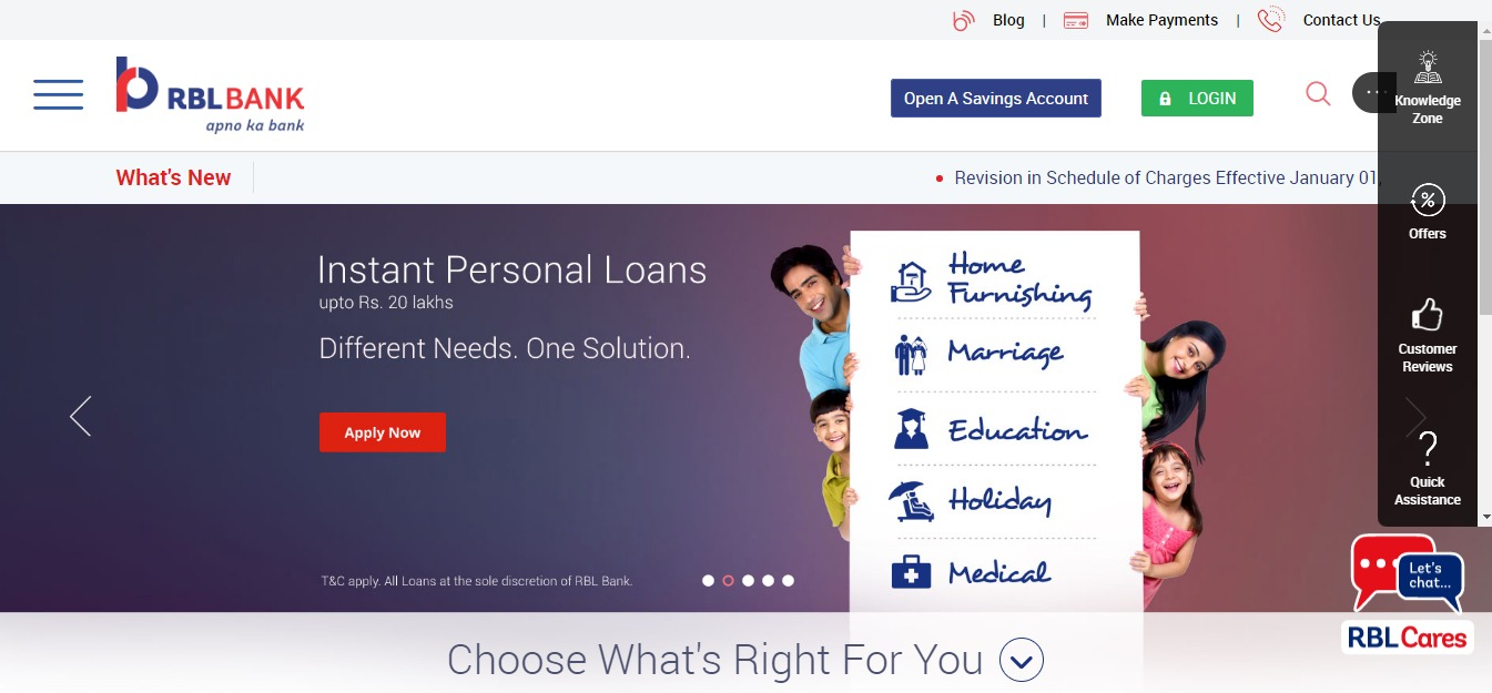 Personal Banking Online Banking Services RBL Bank