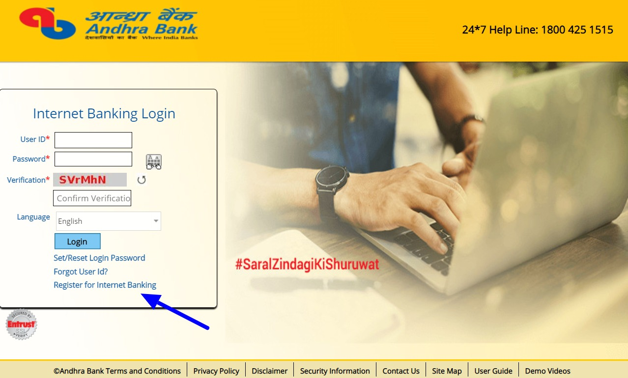 Andhra Net Banking Online – How To Register & Activate Account? 6