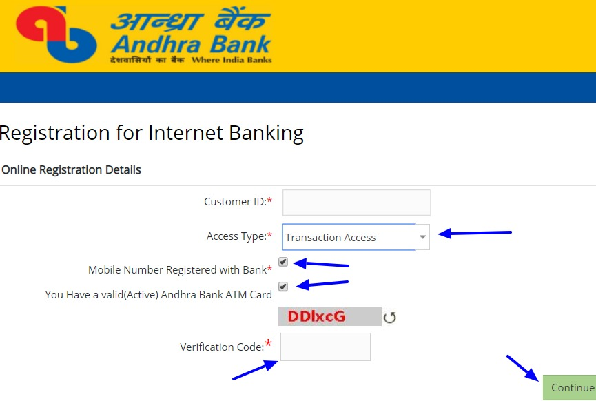 Andhra Net Banking Online – How To Register & Activate Account? 7