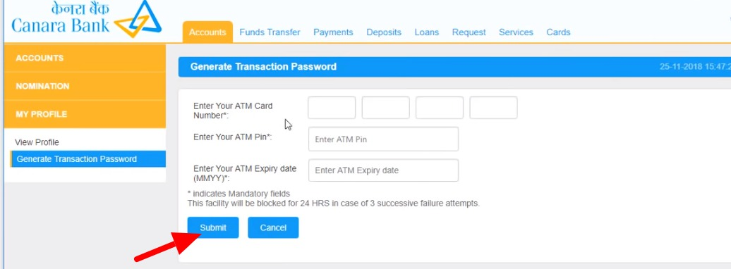 Canara Bank Net Banking : How To Register, Activate & More 27