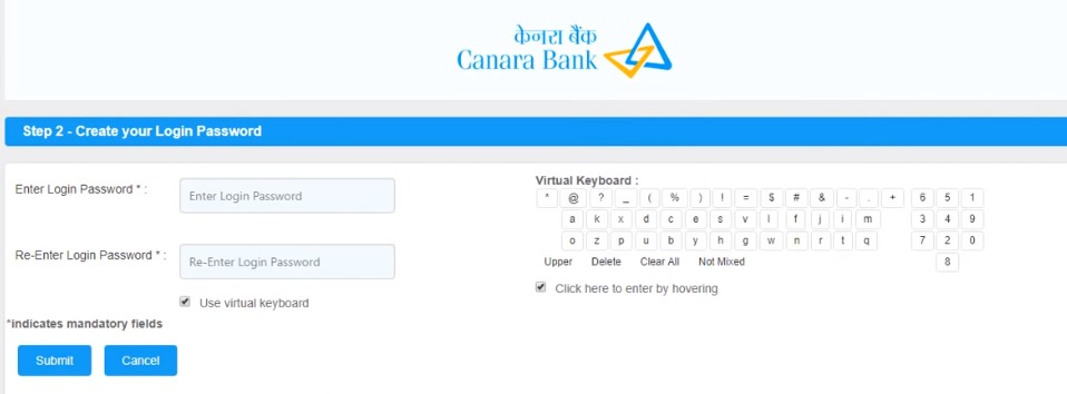 how to activate net banking facility in canara bank