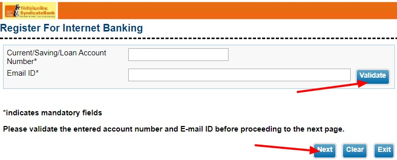 Syndicate Bank Net Banking Online – How To Register & Activate Account? – Syndicate Bank 4