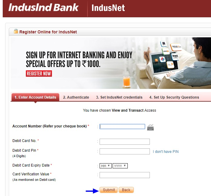 Indusind Bank Net Banking Online - How To Register & Activate Account? 14