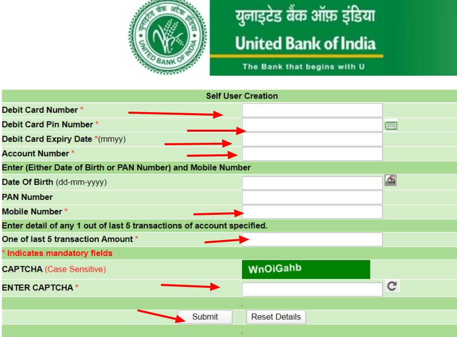 United Bank of India Net Banking Online – How To Register & Activate Account & Login? 5