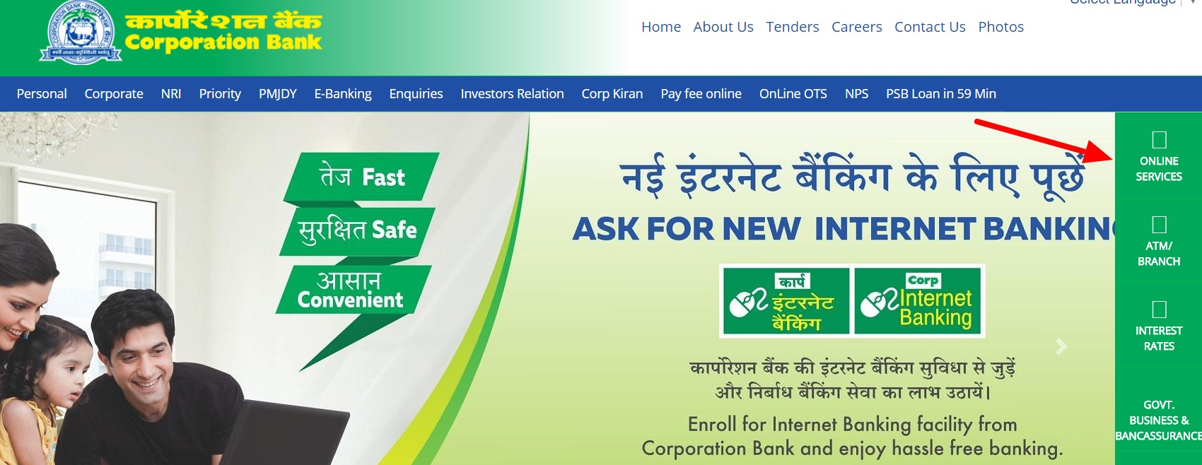 Corporation Bank Net Banking Online – How To Register & Activate Account? – Corporation Bank 2