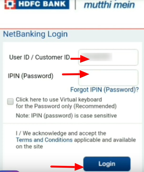 HDFC Bank Net Banking Online – How To Register & Activate Account? 12