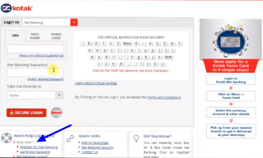 Kotak Bank Net Banking Online – How To Register & Activate Account? 25