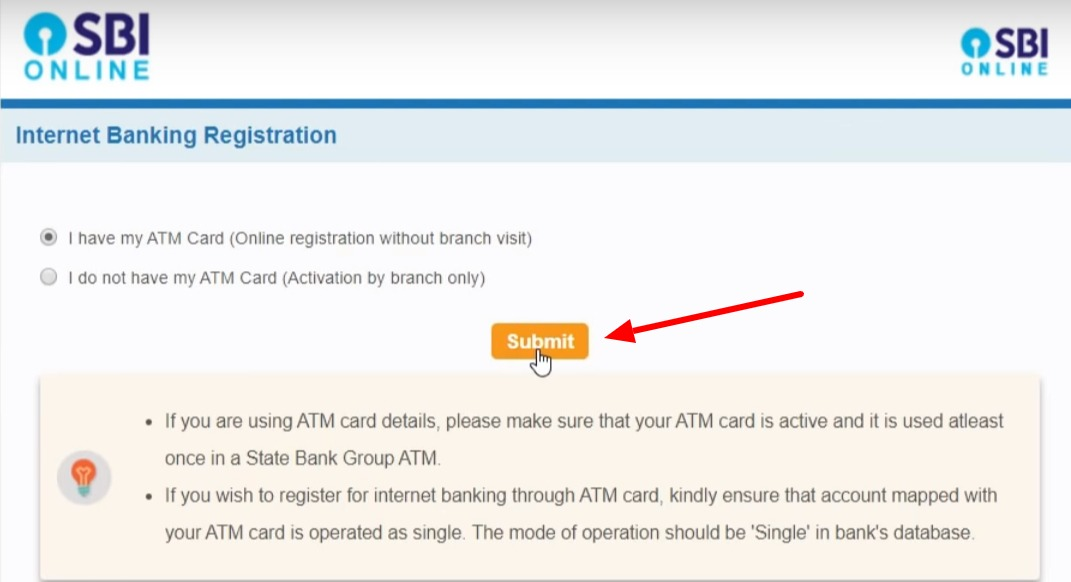 SBI Net Banking Online – How To Register & Activate Account? 5