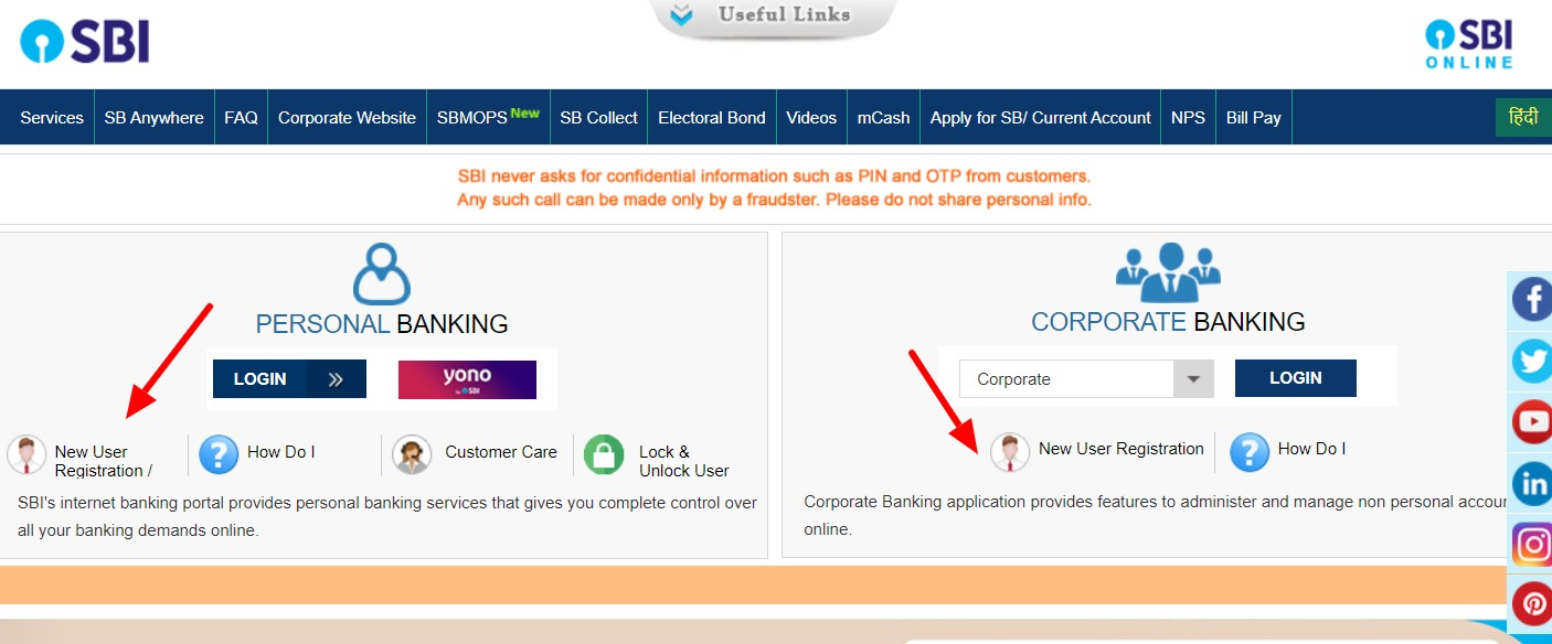 SBI Net Banking Online – How To Register & Activate Account? 2