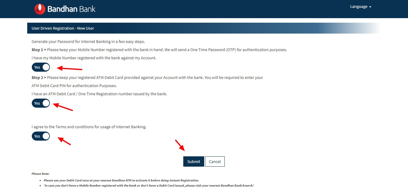 How To Register for Bandhan Bank Net Banking