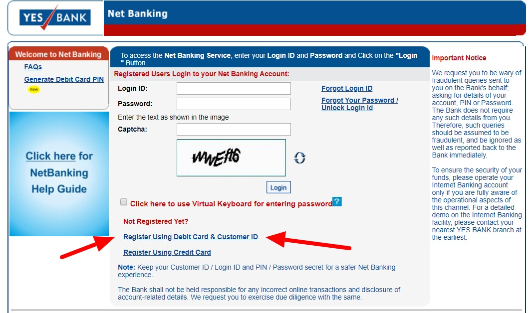 Yes Bank Net Banking – How To Register, Activate & Login? 18