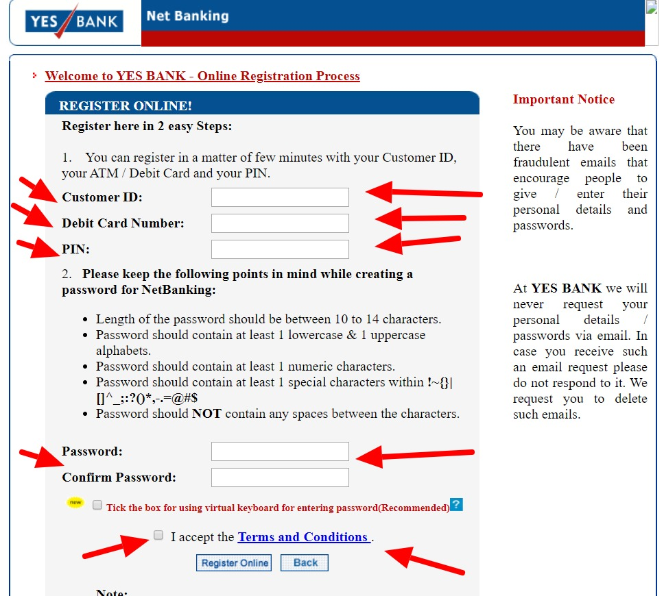 Yes Bank Net Banking – How To Register, Activate & Login? 7