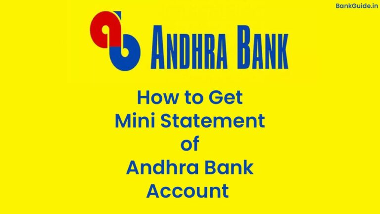 How to Get Mini Statement of Andhra Bank Account - [Full Guide] 2