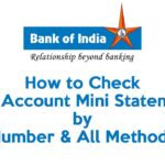 How to Check BOI Account Mini Statement by Number & All Methods 7