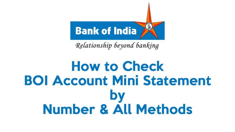 How to Check BOI Account Mini Statement by Number & All Methods 1