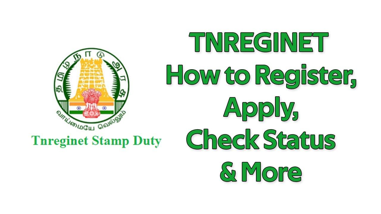 TNREGINET How to Register, Apply, Check Status & More