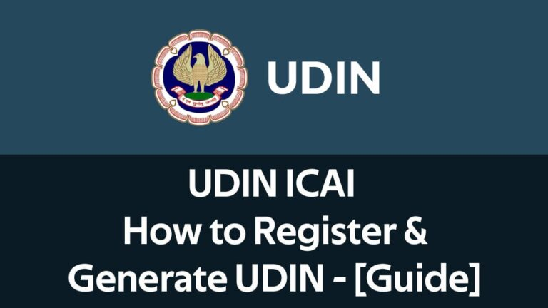 UDIN ICAI How to Register & Generate UDIN