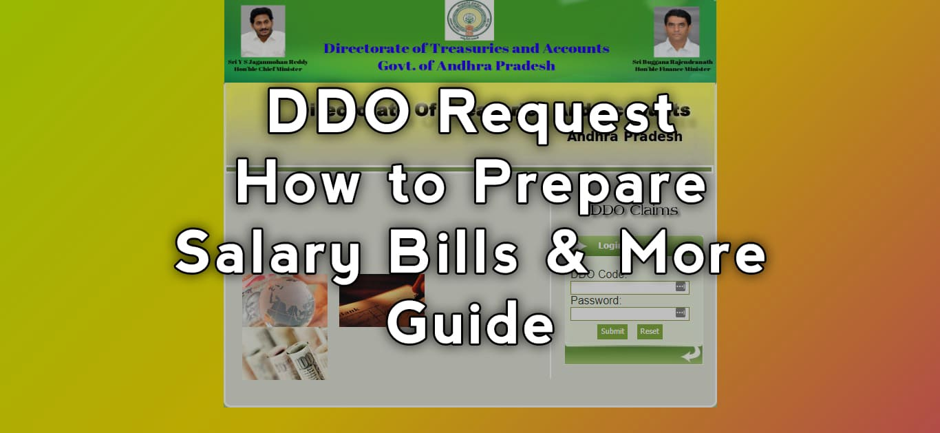 DDO Request How to Prepare Salary Bills & More - Guide