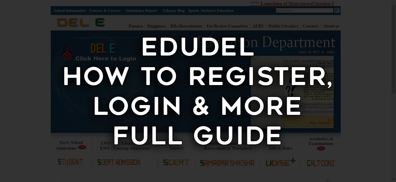 Edudel How to Register, Login & More - Full Guide