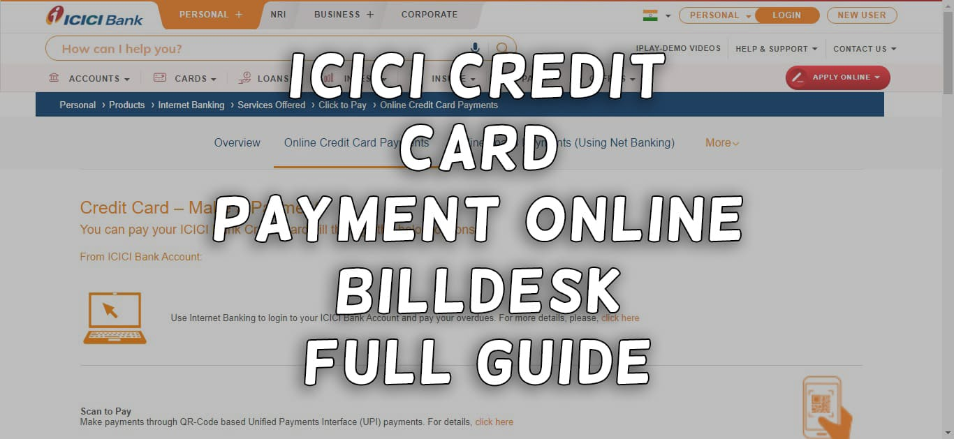 ICICI Credit Card Payment Online Billdesk Full Guide