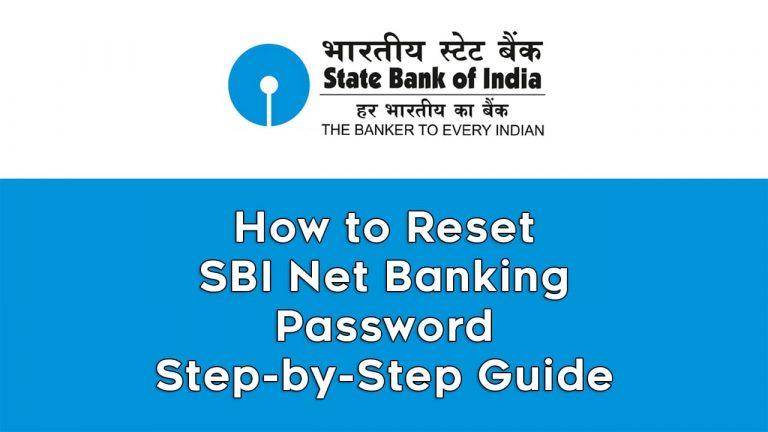 How to Reset SBI Net Banking Password : Step-by-Step Guide 1