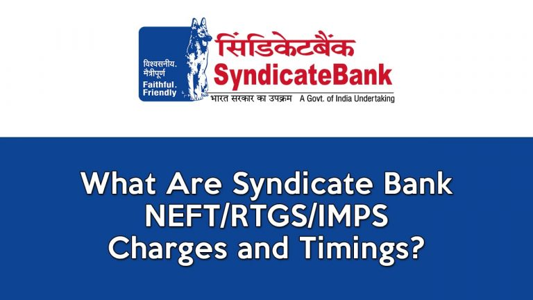 Syndicate Bank Net Banking Charges