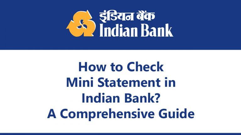 mini statement of indian bank