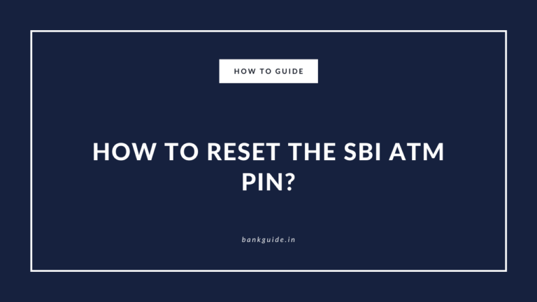 How to Reset or Generate the SBI ATM PIN? - Guide 5