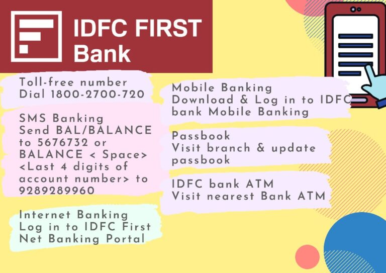 7 Ways to Check Available to Check IDFC Balance - Guide 2