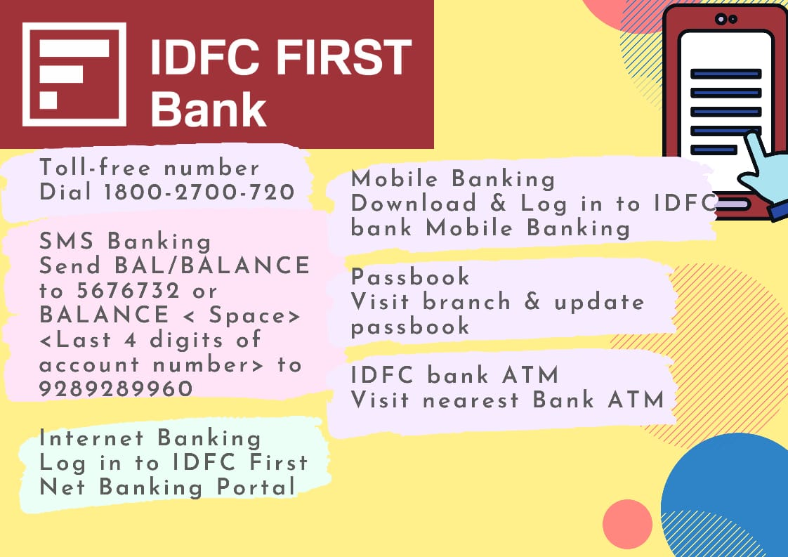 7 Ways to Check Available to Check IDFC Balance - Guide 1