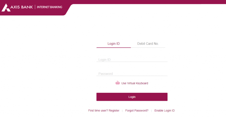 how to login axis net banking